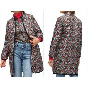 J Crew X Liberty London Quilted Floral Puffer Coat